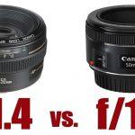 تفاوت تصویر لنز F1.4 با F1.8